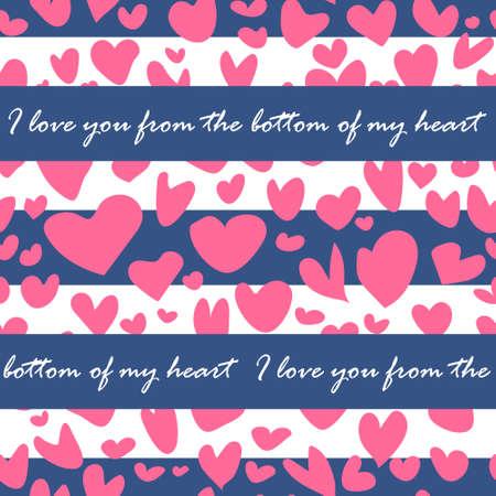 Doodle heart pattern, Valentine day