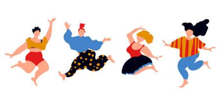 Body pozitive jumping women