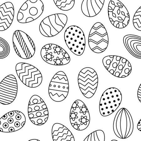 Line eggs pattern for Easter banner