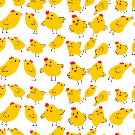 Yellow chinken pattern Ilustrace