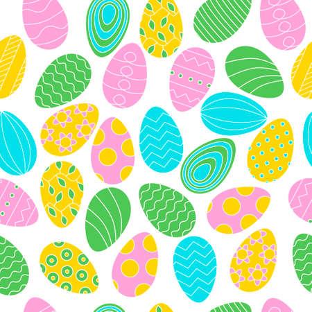 Color eggs pattern on background for Easter banner Ilustrace