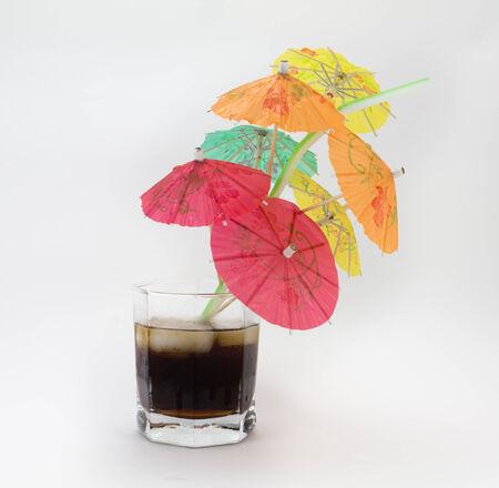 umbrela: umbrela and cocktail Stock Photo