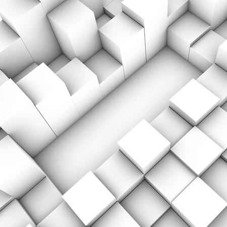 3D cubes background photo