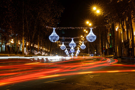 rustaveli: Rustaveli Avenue in Tbilisi Stock Photo