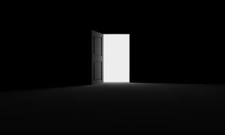 open gate: Open door into the darkness
