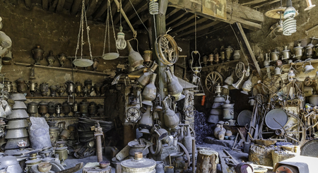 antique: Antique shop in the village household items Lahij Azerbaijan
