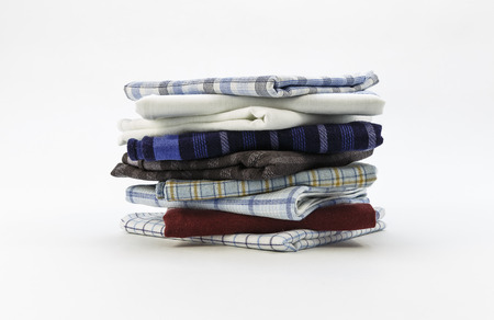 handkerchiefs for men on a white background photo