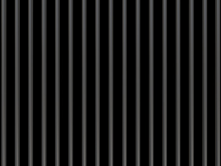 upright row: Metal bars on a black background like prison bars