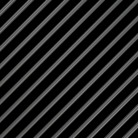 upright row: Metal bars on a black background.3d