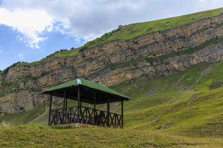 gazebo: A gazebo for relaxing in the mountains(soft focus)