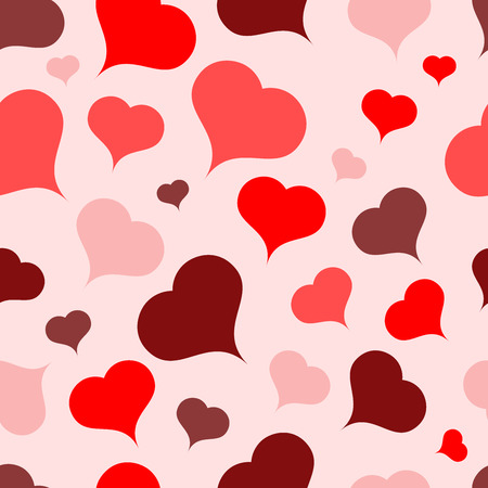 wedding day: Multi-colored hearts on a light background.Seamless.Vector