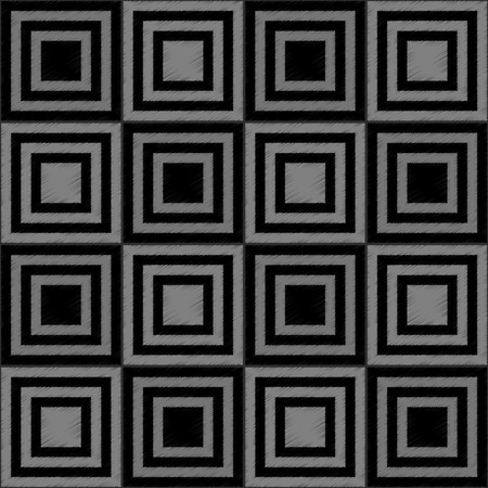 consisting: Seamless pattern consisting of black and gray squares.Vector