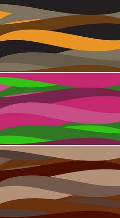 Set of colored backgrounds similar wave.Vector