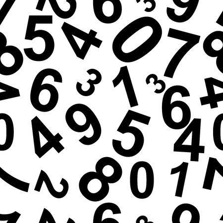 consisting: Seamless repeating pattern consisting of the numbers.Vector Illustration