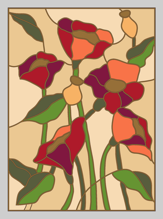 stained glass windows: Abstract stained glass background