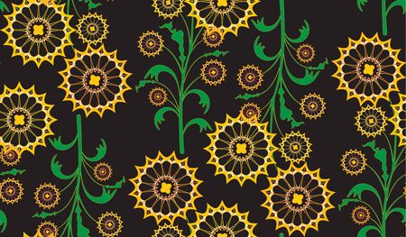 batik: Seamless repeating floral pattern