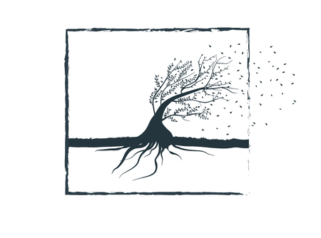 bendable: Bendable tree symbolizing the wind resistance,flexibility,reliability