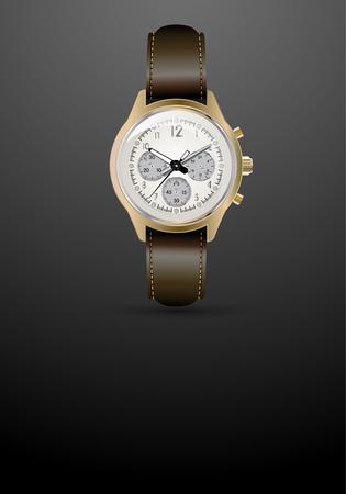 detailed: Stylish detailed watch on a dark background