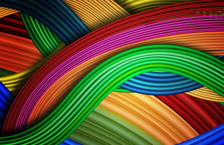 Abstract background like multicolored wires