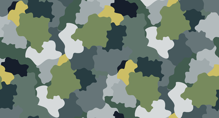Seamless repeating pattern simulates abstract camouflage.Vector