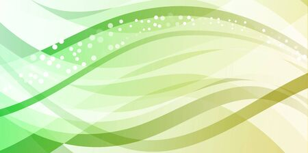 green line: Abstract background design.Waves with circles.