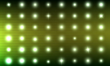 floodlit: Abstract background is simulating lights on the scoreboard