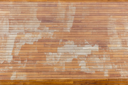 the casing: Casing wall of wooden planks Stock Photo