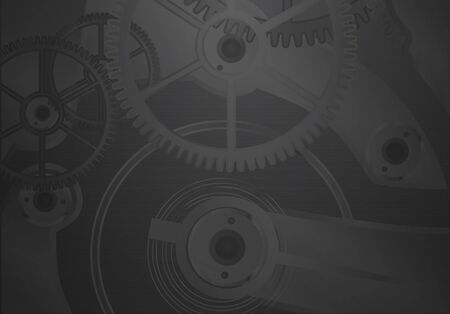 clockwork: Clockwork on a dark background.Vector Illustration