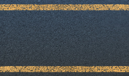 computer repairing: The texture of asphalt and yellow line.Vector Illustration