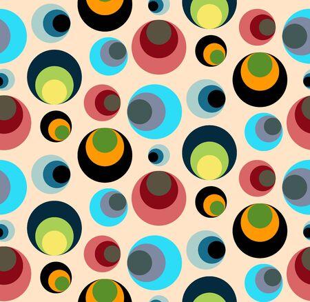 similar: Seamless repeating pattern of colored circles similar to eyes.Vector
