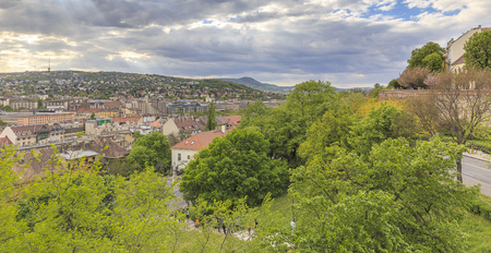 buda: View of Budapest with the Buda Castle