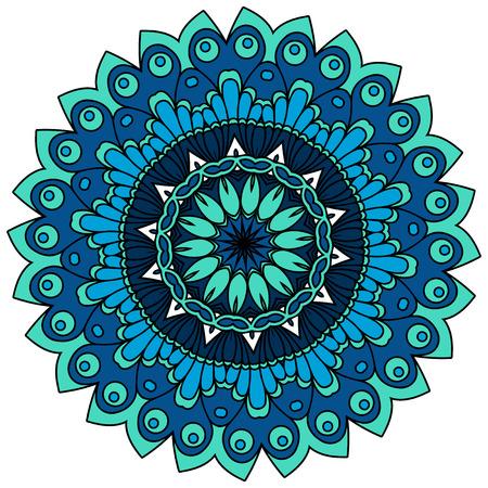asian and indian ethnicities: Mandalas. Vintage decorative elements. Oriental pattern, illustration Illustration
