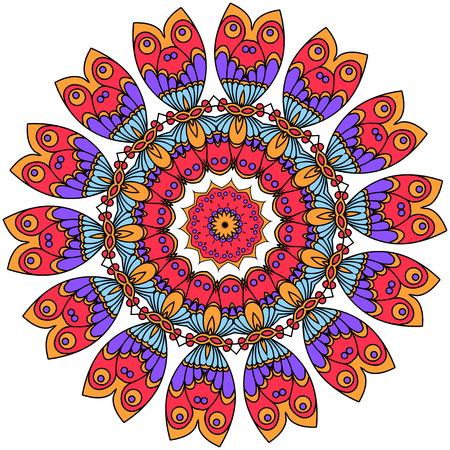 Mandalas. Vintage decorative elements. Oriental pattern illustration  イラスト・ベクター素材