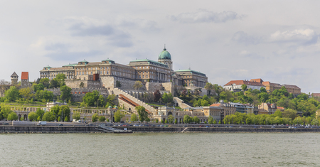 buda: Buda Castle.View from the Danube