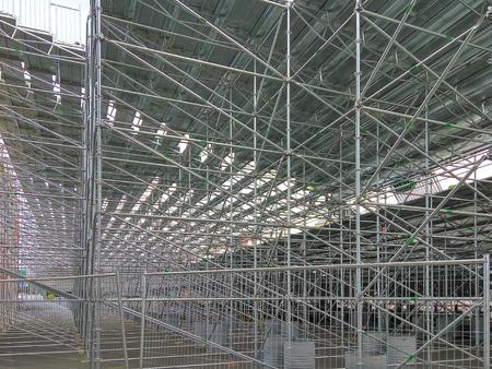 Tribune gesammelt aus Metallkonstruktionen