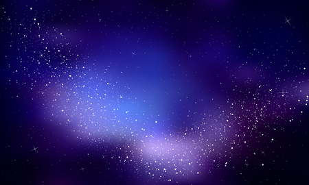night sky stars: Stars in the night sky,nebula and galaxy.Vector Illustration