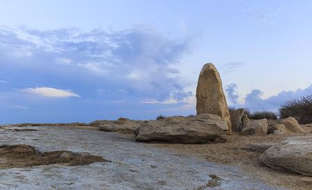 caspian: Rocks on one of the coasts of the Caspian Sea.Azerbaijan