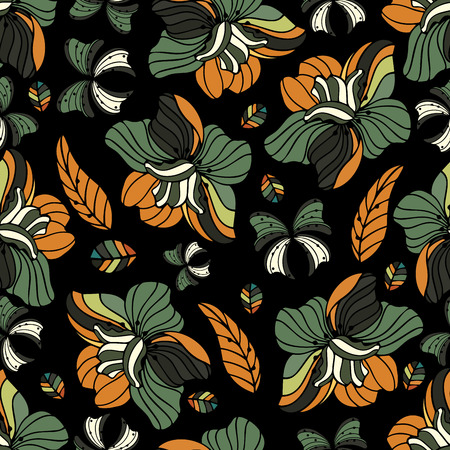 flower ornament: Seamless repeating floral pattern.Vector