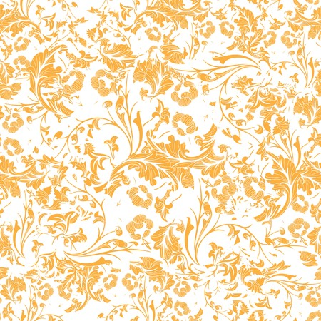 Brown Seamless repeating floral pattern Vector.
