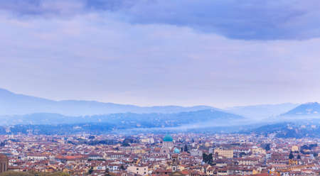 fading: The fading mist over Florence at sunrise.Italy
