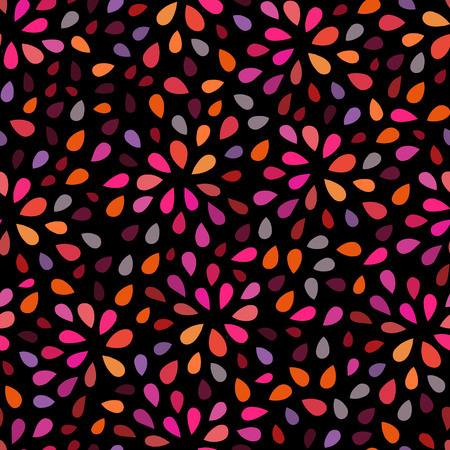 Seamless repeating pattern consisting of colored droplets
