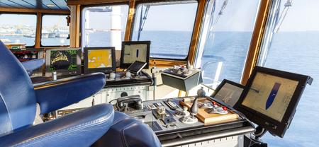 Captain's cabin on the ship Stockfoto