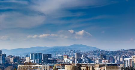 Panorama of Tbilisi Stock Photo