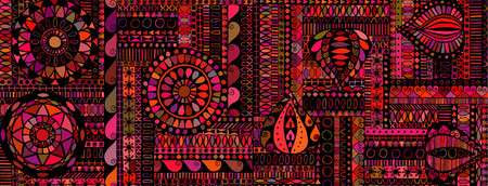 Abstract background similar to an ethnic carpet Illustration