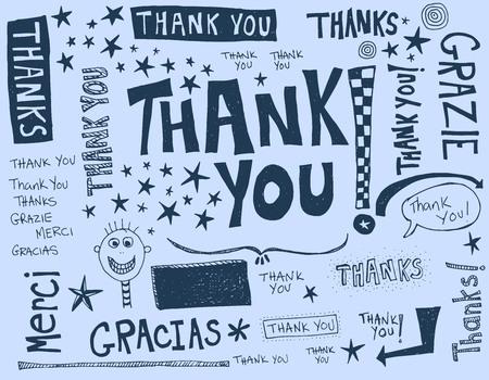 Een dankwoord geschreven in verschillende talen