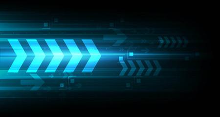 high speed internet: Arrow tech background