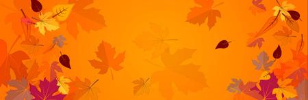 Banner on the autumn theme 일러스트