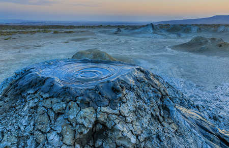 Mud volcanoes in Gobustan.Azerbaijan