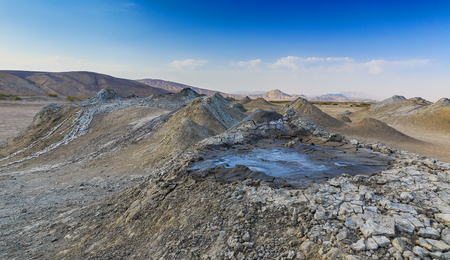 azeri: Mud volcanoes in Gobustan.Azerbaijan