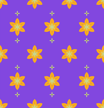 violet red: Seamless decorative flowers pattern